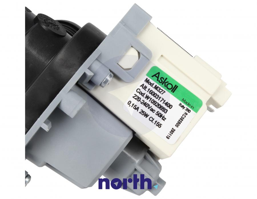 Pompa odpływowa kompletna (silnik + obudowa) do pralki Whirlpool 481010920893,2