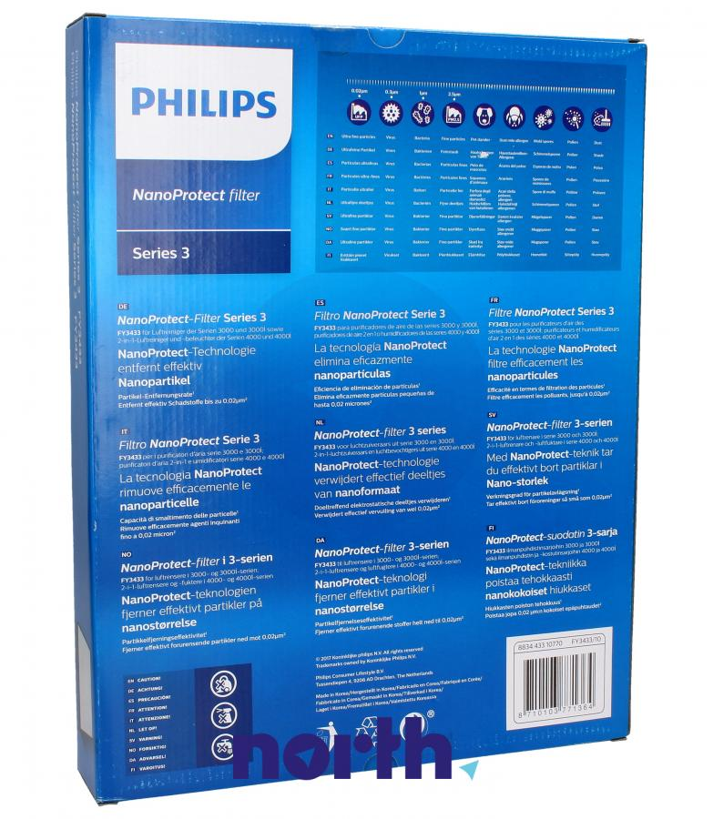 Filtr HEPA do oczyszczacza powietrza Philips FY3433/10 996510075473,1
