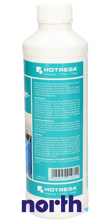 Płyn do czyszczenia obiegu mleka do ekspresu 500ml Hotrega H150400,1
