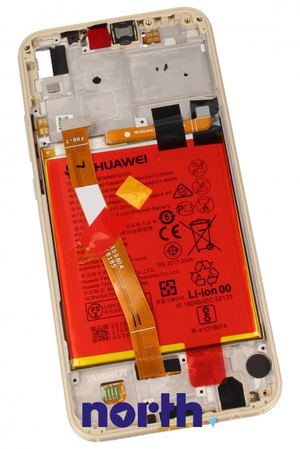 Panel dotykowy z wyświetlaczem, obudową i baterią do smartfona HUAWEI 02351WRN,1