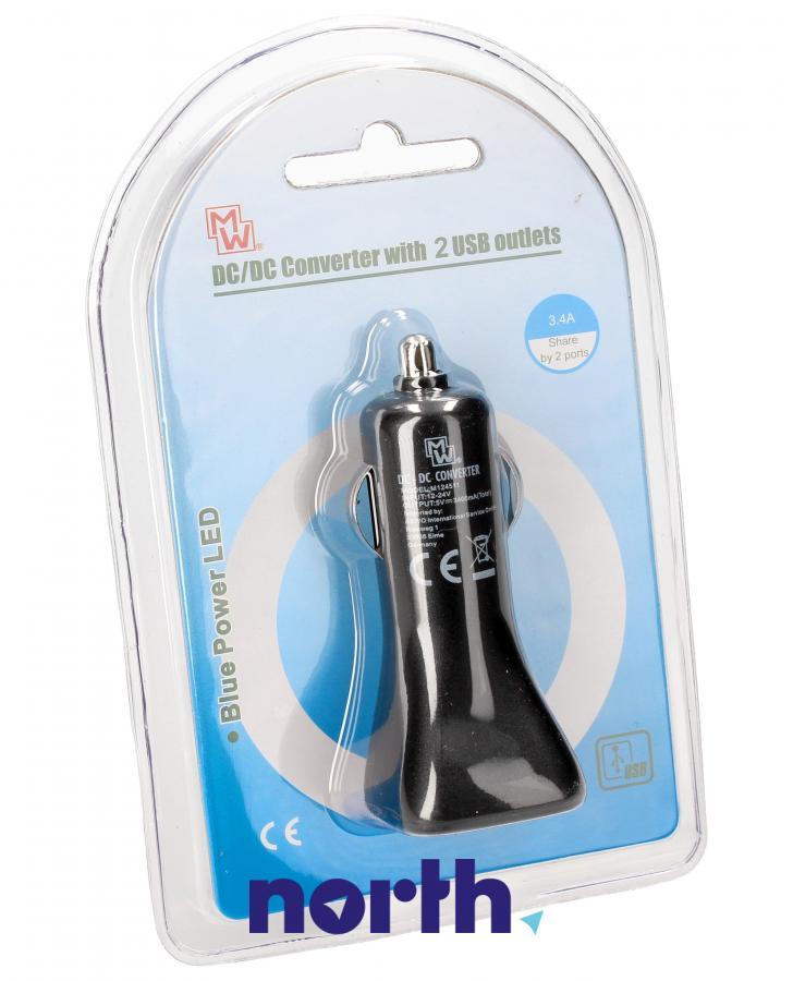 Ładowarka samochodowa bez kabla z 2 gniazdami USB do smartfona Dyson MWDU234,0