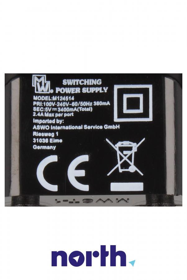 Ładowarka sieciowa z 2 gniazdami USB do smartfona Apple MWAA15W1,4