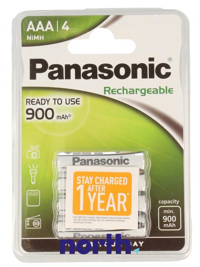 Akumulatorek AAA 1.2V 900mAh Panasonic (4szt.),0