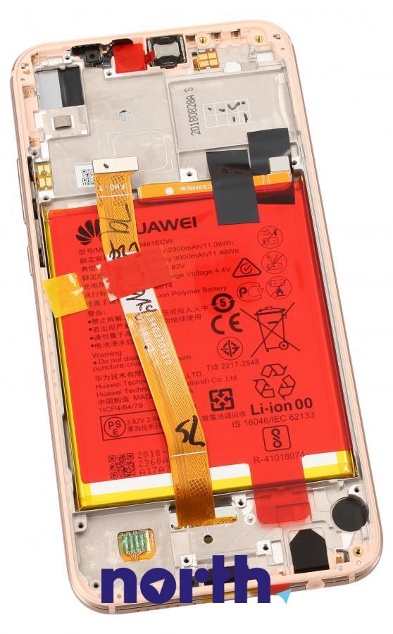 Panel dotykowy z wyświetlaczem, obudową i baterią do smartfona HUAWEI 02351VUW,1