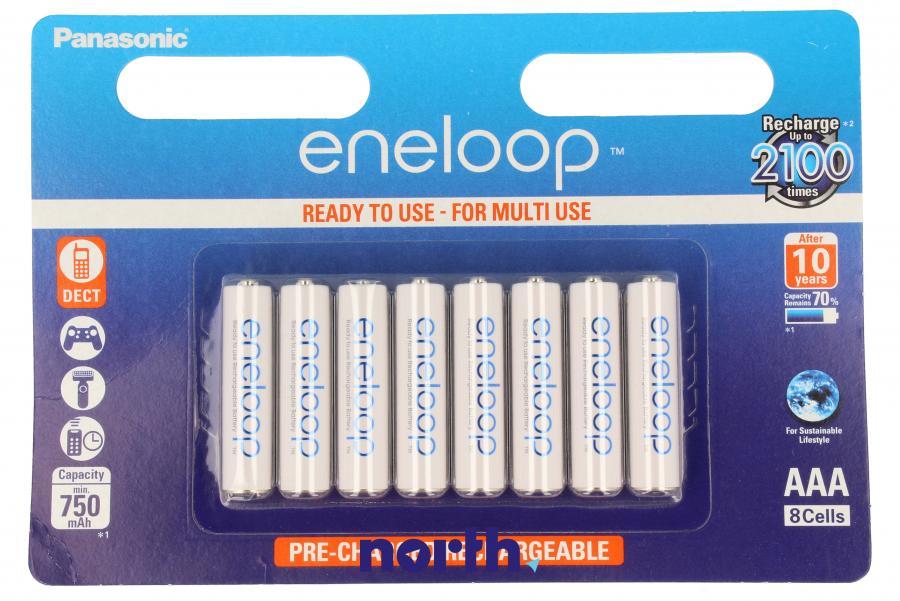Akumulatorek AAA 1.2V 750mAh Panasonic (8szt.) - Eneloop,0