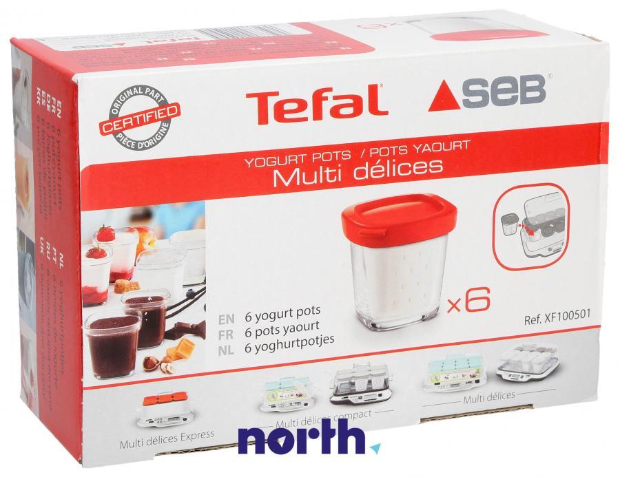 Słoik na jogurt 6szt. do jogurtownicy Tefal XF100501,0