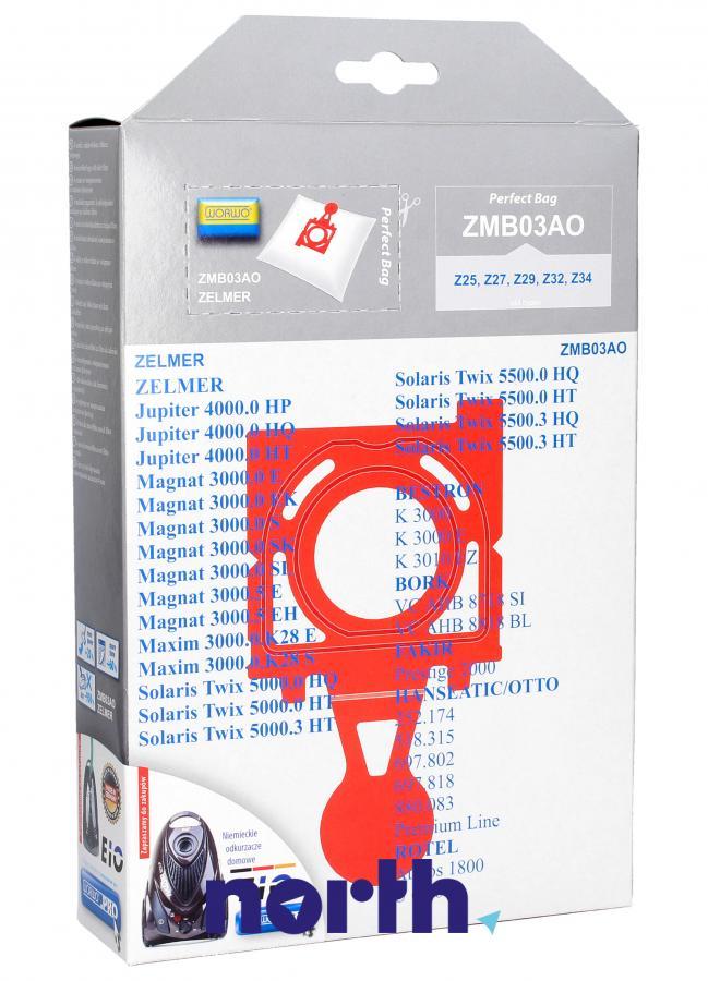 Worki Anti-Odour ZMB03AO 4szt. do odkurzacza Zelmer,1