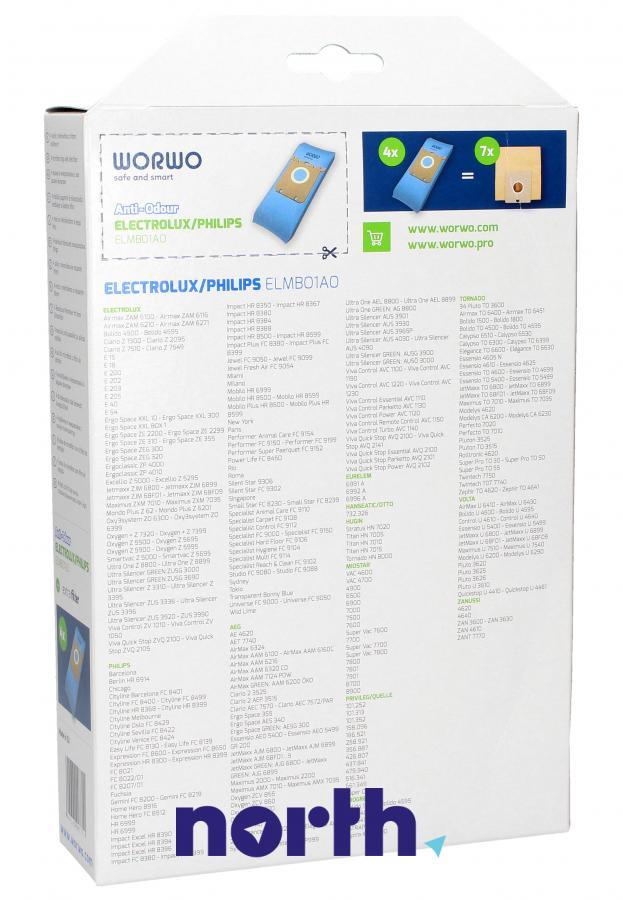 Worki S-Bag Anti-Odour ELMB01AO 4szt. do odkurzacza Electrolux,1