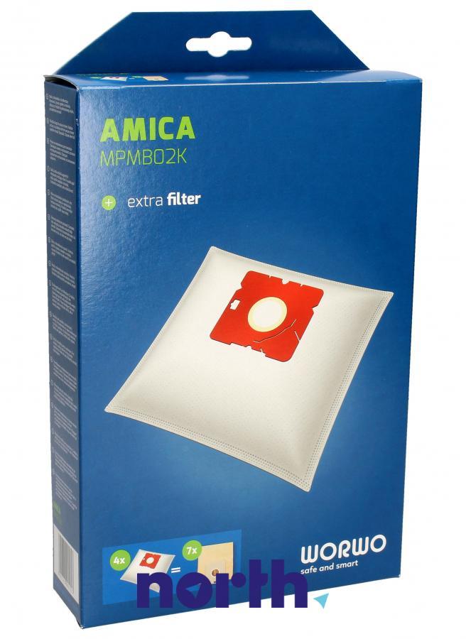 Worki MPMB02K 4szt. do odkurzacza Amica,0