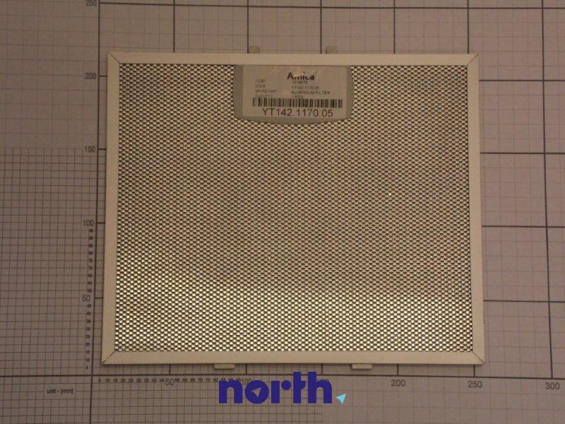 Filtr przeciwtłuszczowy metalowy (aluminiowy) do okapu Amica 1019978,0