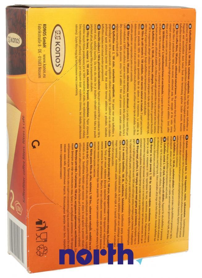 Filtry papierowe do ekspresu przelewowego KONOS 2790000323,1