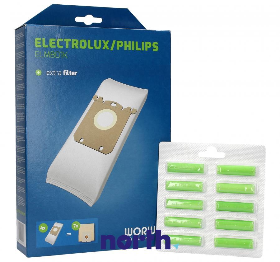 Worki S-Bag 4szt. + wkłady zapachowe 10szt. do odkurzacza Philips,0