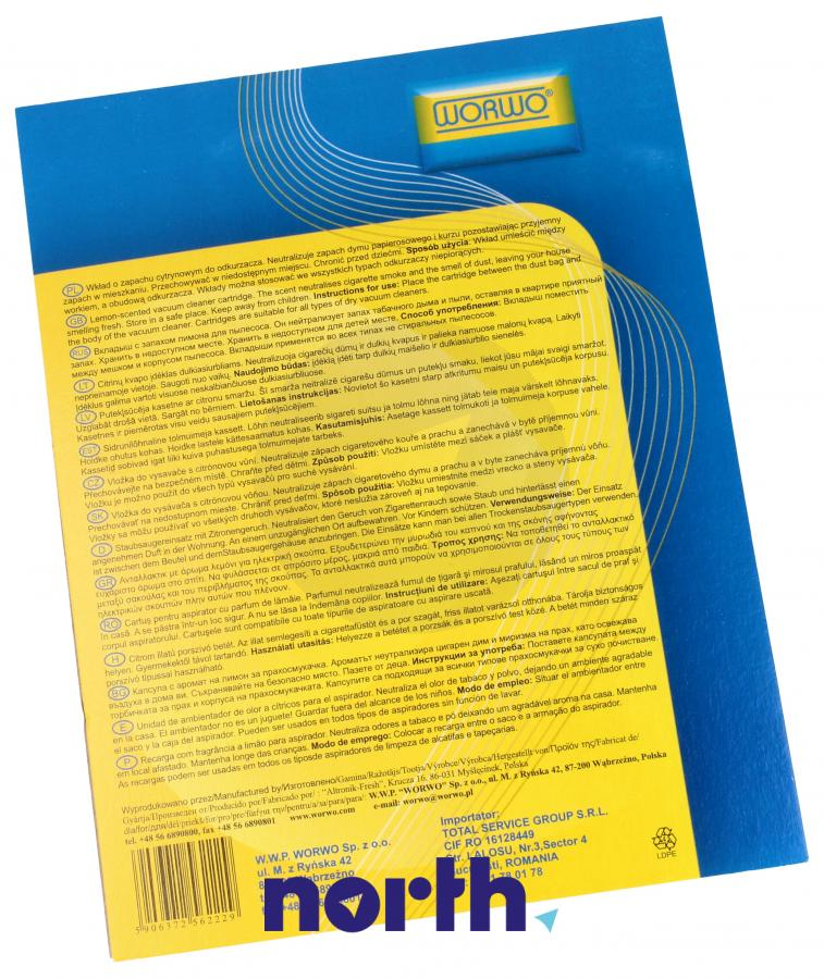 Wkład zapachowy cytrynowy 2szt. Worwo WZ01 do odkurzacza,1