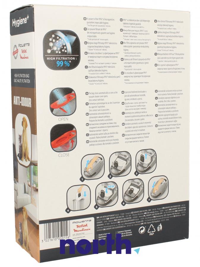 Worki Hygiene+ Anti-Odour ZR200740 4szt. do odkurzacza Rowenta,1