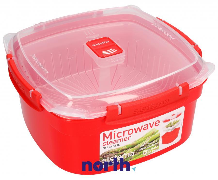 Naczynie do gotowania na parze do mikrofalówki 2,4l SISTEMA,0
