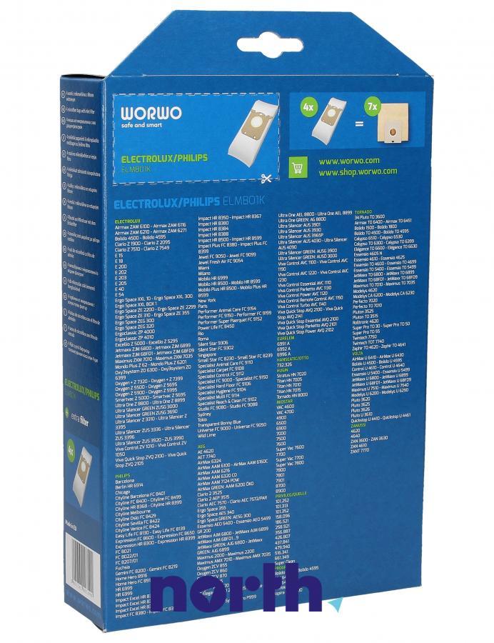 Worki S-Bag ELMB01K 4szt. do odkurzacza Electrolux,3
