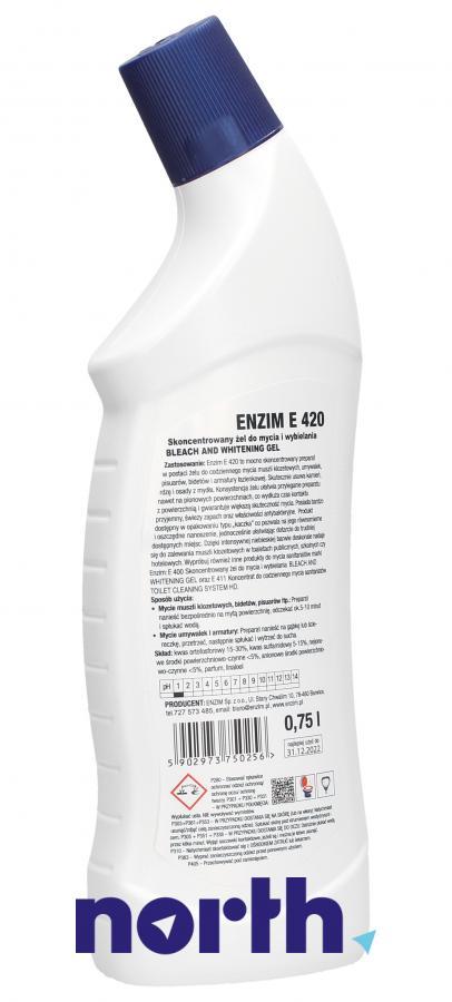 Żel do mycia i dezynfekcji WC ENZIM E420 0.75l,1