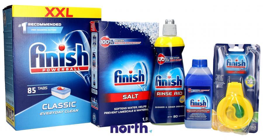 Tabletki + środek czyszczący + odświeżacz + sól + nabłyszczacz do zmywarki FINISH,0