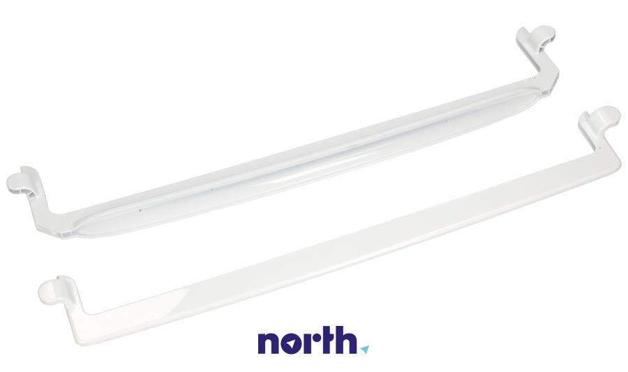 Ramki półki szklanej chłodziarki (tył + przód) do lodówki Amica 1035516,0