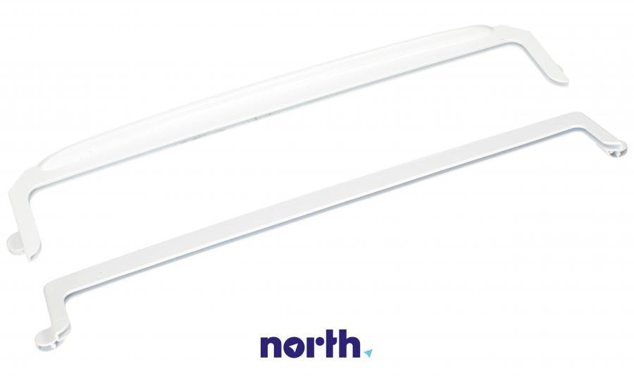Ramki półki szklanej chłodziarki (tył + przód) do lodówki Amica 1035516,1
