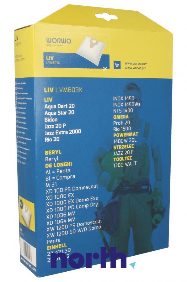 Worki Power Bag do odkurzacza WORWO LVMB03K,1