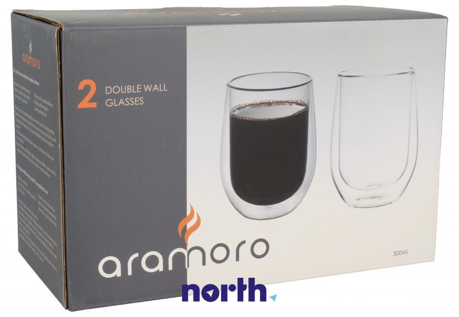 Szklanki do kawy 2szt. Szklanka ARAMORO,0