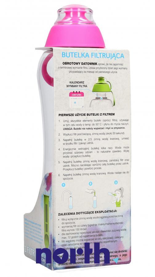Butelka filtrująca Dafi 0.5l różowa,1
