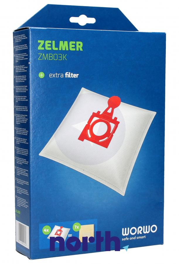 Worki Safbag ZMB03K 4szt. do odkurzacza Zelmer,1