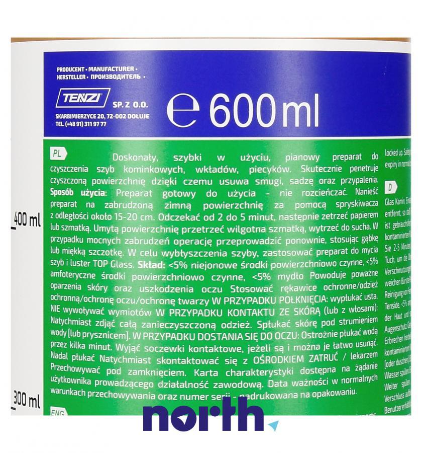Płyn do czyszczenia szyb kominkowych Tenzi 600 ml,3