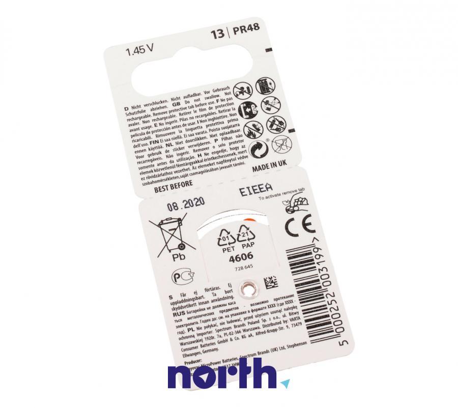 V13 Baterie cynkowa 1.4V 310mAh (6szt.) do aparatów słuchowych,1