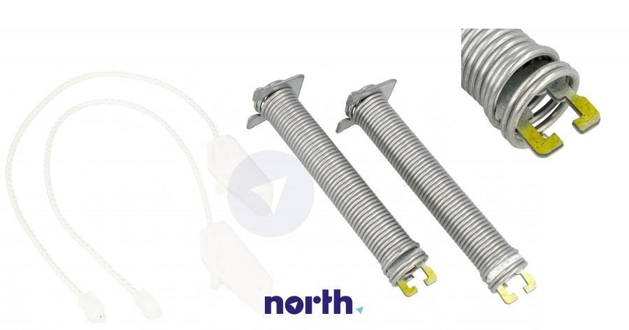 Sprężyny z linkami zawiasu do zmywarki Bosch 00754865,0