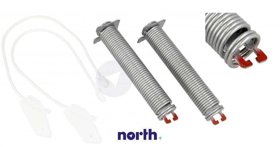 Sprężyny z linkami zawiasu do zmywarki Bosch 00754866,0