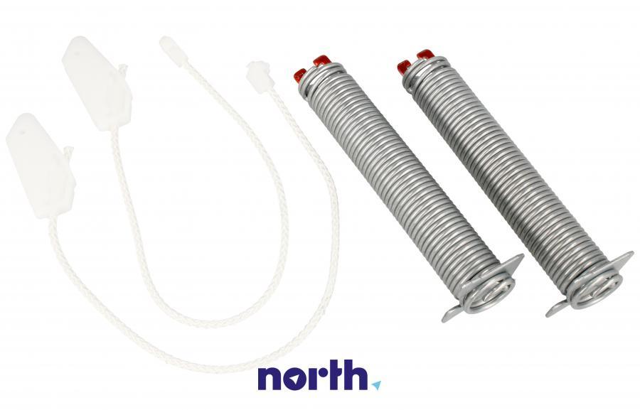 Sprężyny z linkami zawiasu do zmywarki Bosch 00754866,3