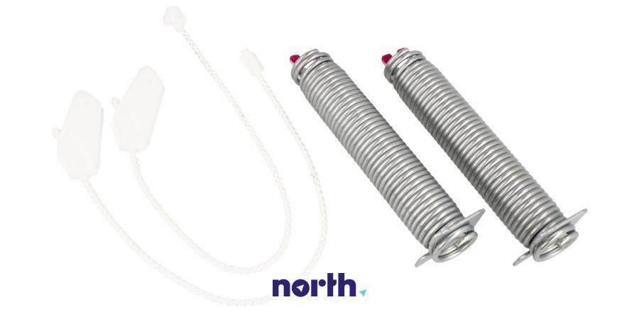 Sprężyny z linkami zawiasu do zmywarki Siemens 00754873,3
