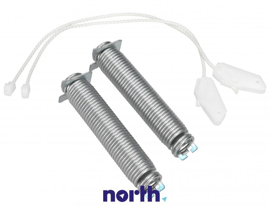 Sprężyny z linkami zawiasu do zmywarki Bosch 00754874,0