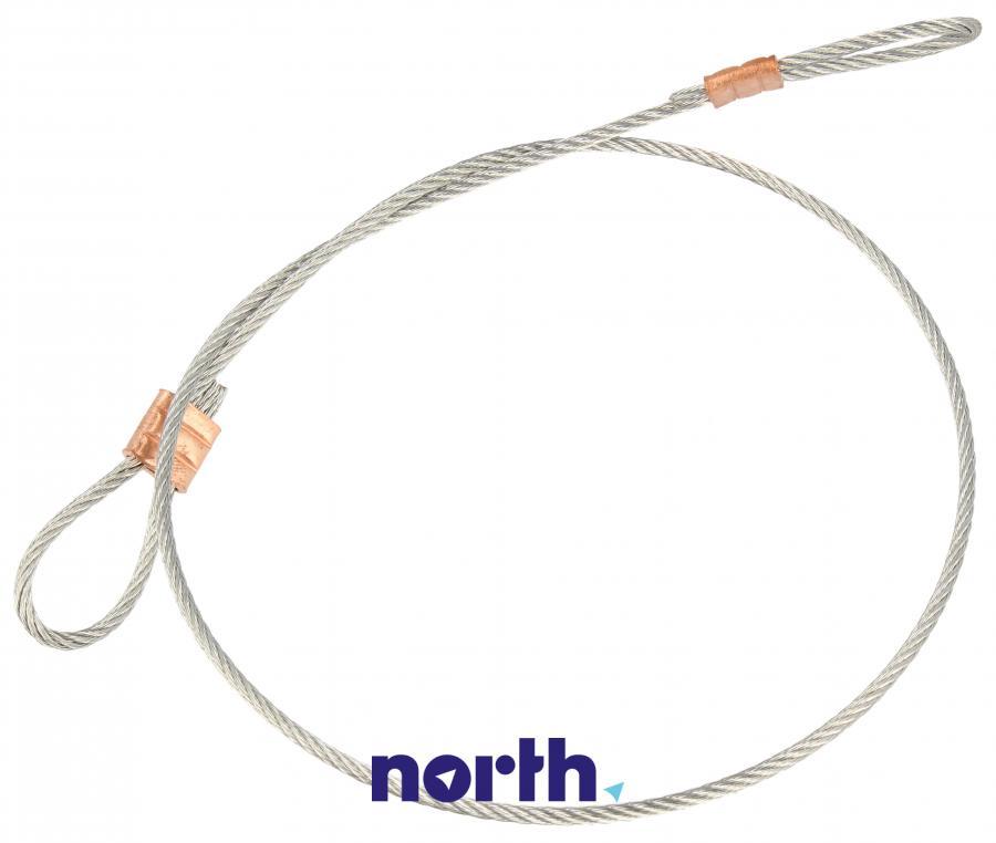 Stalowa linka naciągu sprężyny drzwiowej do zmywarki Whirlpool 480140101122,0
