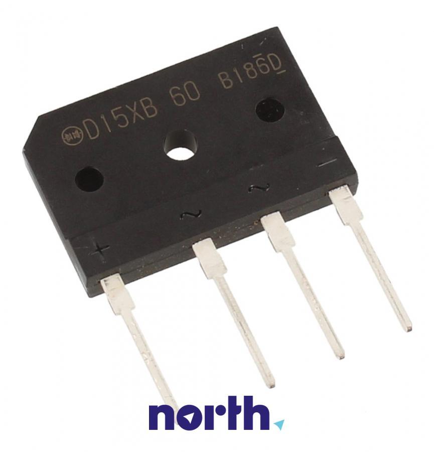 D15XB60 Mostek prostowniczy 600V 15A,0