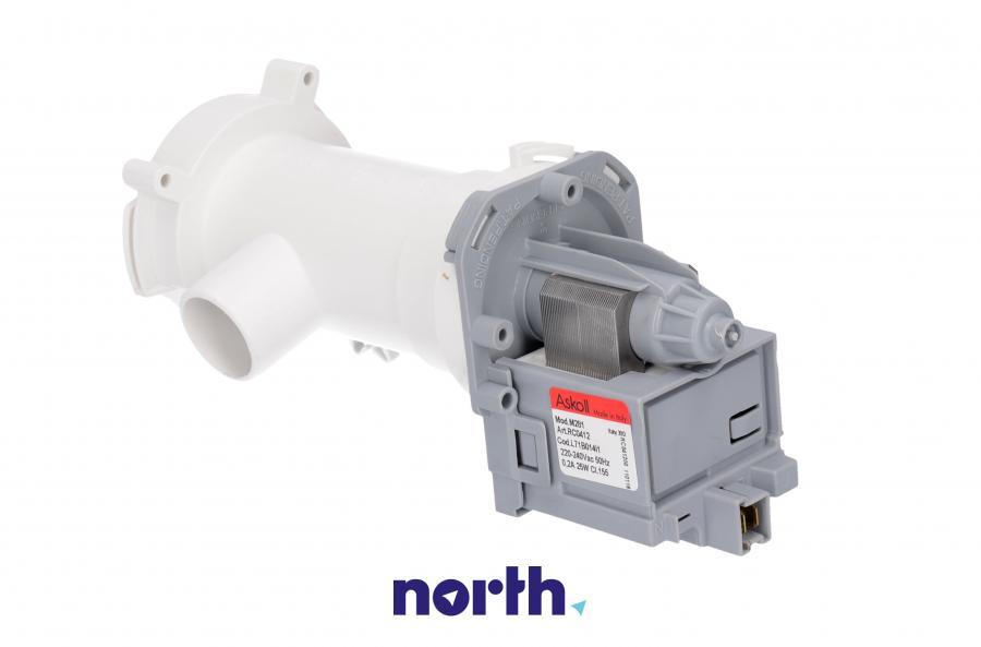 Pompa odpływowa kompletna (silnik + obudowa) do pralki Mastercook L71B014I1,1