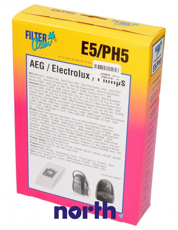 Worki E5/PH5 5szt. do odkurzacza Electrolux,0