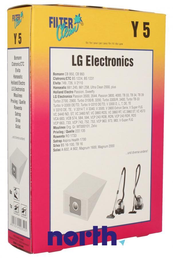 Worki Y5 6szt. do odkurzacza LG,0