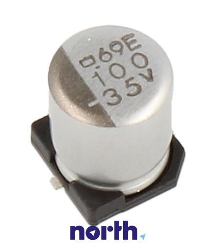 100uF   35V Kondensator elektrolityczny 105°C SMD 7.7mm/6.3mm,0