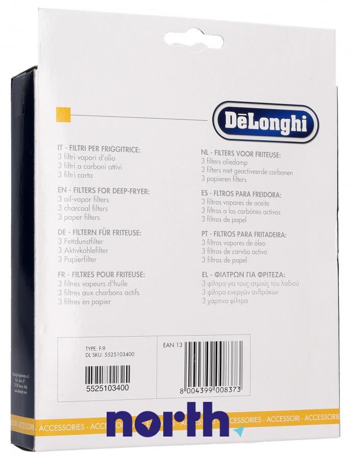 Filtry oleju do frytkownicy DeLonghi 5525103400,1