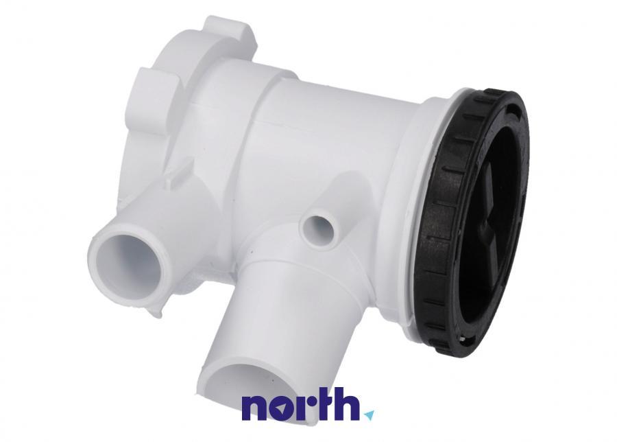 Filtr z obudową do pompy odpływowej do pralki Gorenje 606499,0