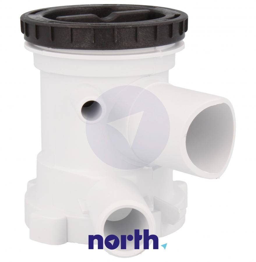 Filtr z obudową do pompy odpływowej do pralki Gorenje 606499,4