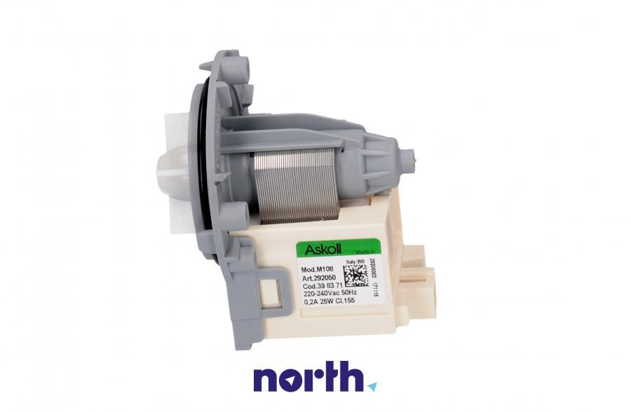 Silnik pompy odpływowej do pralki Privileg 398371,0