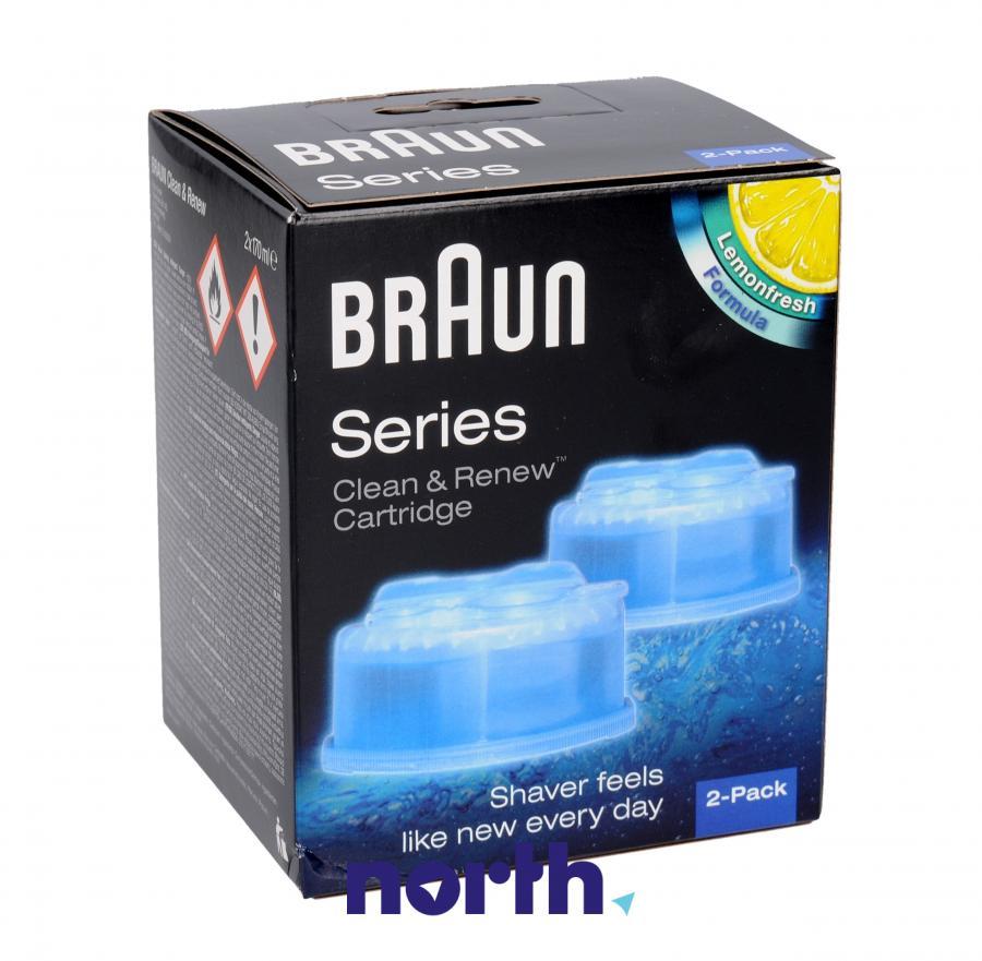 Wkłady czyszczące do golarki Braun 65331707 2szt.,0