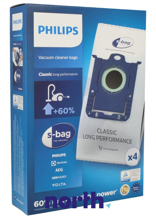 Worki S-Bag Classic Long Performance FC8021/03 4szt. do odkurzacza Philips,0