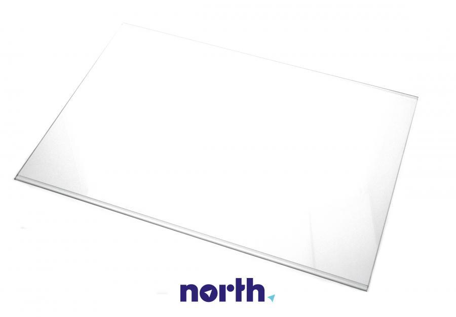 Półka szklana bez ramek do komory chłodziarki do lodówki Indesit 482000022965,0