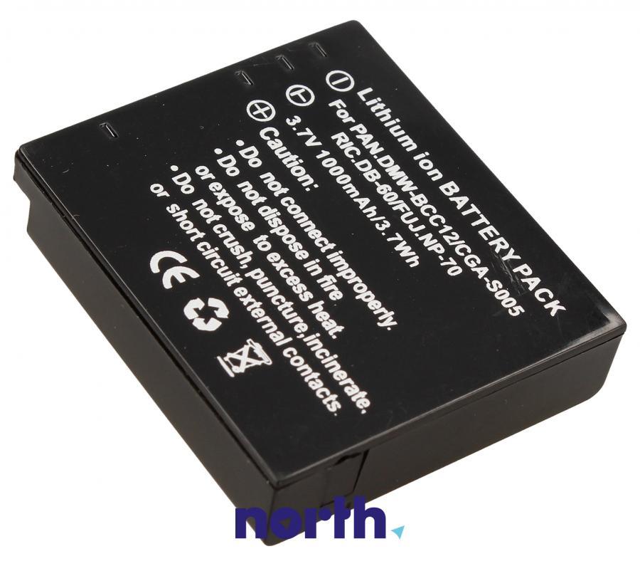 Akumulator 3.7V 1250mAh do kamery Panasonic 3,7V-1000MAH,1