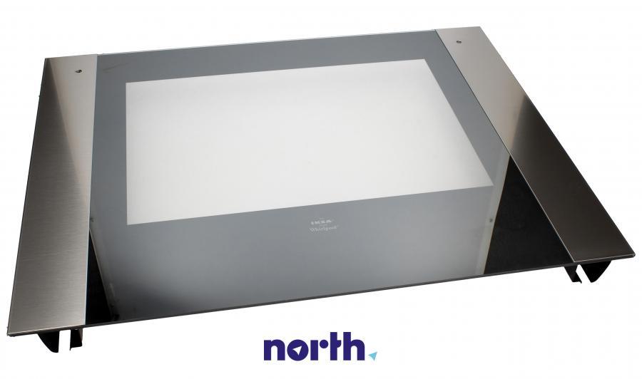 Zewnętrzna szyba drzwi z ramą do piekarnika Ikea 481245059529,0